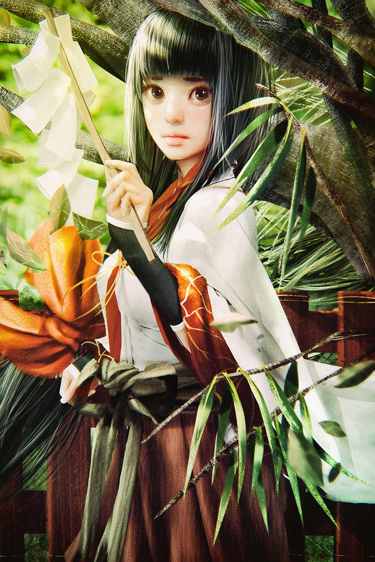 a_shinto_miko_in_woods_by_cursedapple-d9k846w
